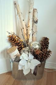 Birch Wood Table Decorations Modern Winter Christmas Ornaments
