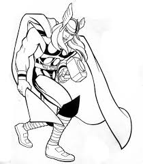 Marvel Hero Thor Coloring Page Netart Thor Coloring Page
