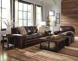 Flexsteel Leather Sofa With Ample Room For Everyone To Relax Comfortably This Flexsteel