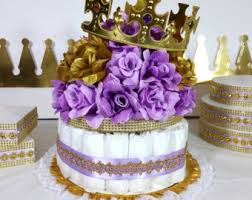 purple baby shower themes crown lavender and gold baby shower centerpiece royal