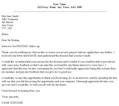 follow up letter example after unsuccessful interview u2013 cover
