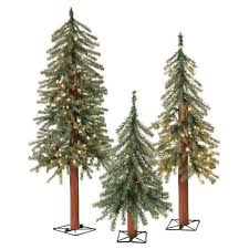 2ft 3ft 4ft pre lit led alpine artificial tree slim with