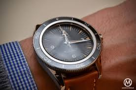 stainless steel bracelet omega watches images The omega seamaster 300 master co axial chronometer now on leather jpg