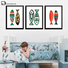 popular dining room paintings buy cheap dining room paintings lots nordic art colorful fishes canvas poster minimalism painting cartoon a4 wall picture print modern home dining
