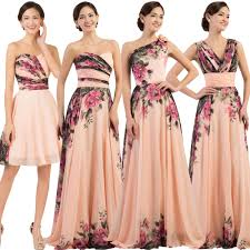 flower chiffon long masquerade evening party bridesmaid ball gown