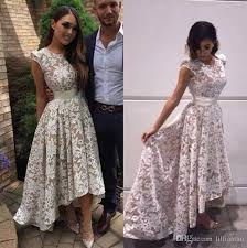 white lace prom dress white lace prom dresses high low evening party gowns
