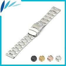 stainless steel bracelet clasps images Stainless steel watch band 18mm 20mm 22mm 24mm for movado safety jpg