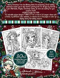 a whimsy girls christmas fantasy coloring book fairy chibi