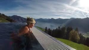 hotel villa honegg switzerland infinity pool youtube