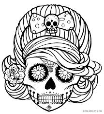 coloring pages printable skulls coloring pages for cool2bkids
