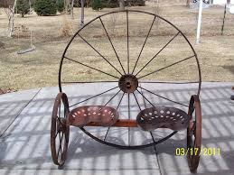 metal wagon wheel bench u2013 amarillobrewing co