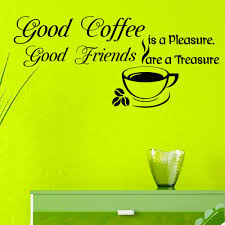 Amazon Wall Murals by Wall Decals Vinyl Sticker Quote Good Coffee Is A Pleasure Good