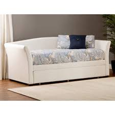 upholstered storage headboard daybeds modern daybed sofa montgomery upholstered trundle white