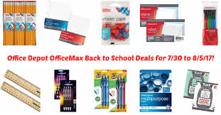 Office Depot Office Depot Officemax Back To Deals For 7 30 To 8 5 17