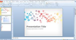 Free Abstract Squares Powerpoint Template Free Power Point