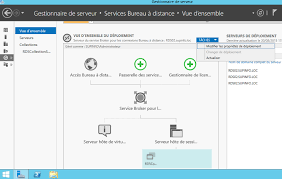 passerelle bureau à distance windows server 2012 installation et configuration d un serveur rds