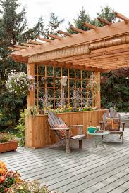 Build A Pergola On A Deck by Adding A Pergola To A Cabin Deck