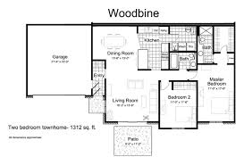 2 Bed 2 Bath House Plans Townhomes For Rent In Eden Prairie Mn Tanager Creek