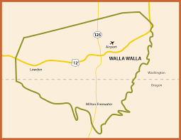Oregon Winery Map by Map Visit Walla Walla