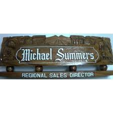 Desk Name Plates Wood Mike And Pina Variety And General Merchandise