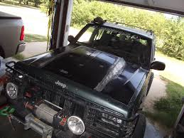 jeep grand cherokee prerunner cowl hood lots and lots of pictures jeep cherokee forum