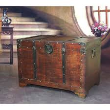 vintiquewise fashioned wood storage trunk wooden treasure
