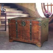 vintiquewise fashioned wood storage trunk wooden treasure