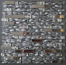 Steel Tile Backsplash by Glass Mosaic Tiles Ssmt246 Silver Stainless Steel Tile Backsplash