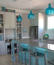 fantastic blue pendant lighting and beachy blue kitchen blue