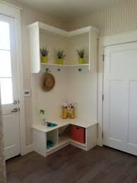 Entry Way Bench And Shelf Styles Of Corner Entryway Bench Layouts Homesfeed