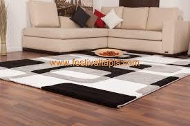 tapis cuisine pas cher tapis effet 3d look tendance et design gris noir