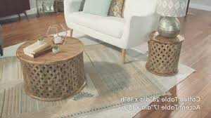 Coffe Table Simple Carved Wood Coffee Table West Elm