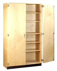 Wooden Storage Closet With Doors February 2018 Alanwatts Info