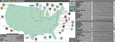 map us open 2009 us open cup 1st 32 teams 8 usl 1 teams 8 usl 2