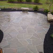 Outdoor Slate Patio This Irregular Flagstone Patio Is Wet Set With Mortar Joints