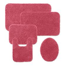 Bathroom Contour Rug by Pink Bathroom Rugs And Mats Roselawnlutheran