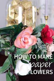 how to make paper flowers free christmas printable the