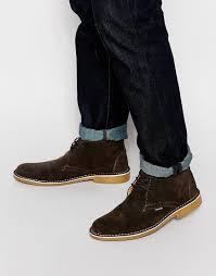 lambretta desert boots in brown for men lyst