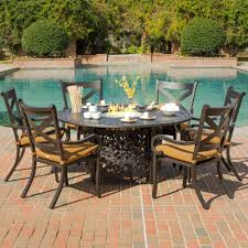 furniture the most attractive fire pit dining table homelena