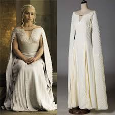 popular game of thrones white dress costume buy cheap game of