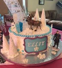 frozen themed cake front ellie u0027s cake cake adventures