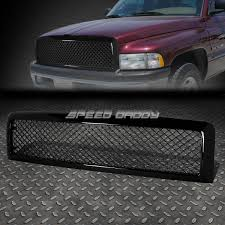 dodge grill for 94 02 dodge ram black abs honeycomb meshed front upper bumper