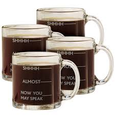 really cool mugs amazon com shhh almost now you may speak funny glass coffee