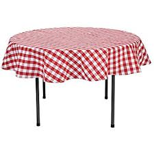Round Kitchen Table Cloth by Amazon Com Linentablecloth 70 Inch Round Polyester Tablecloth Red
