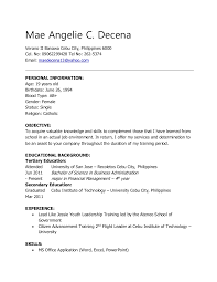 Sales Manager Resume Objective Examples by Objective Sample Resume For Ojt Contegri Com