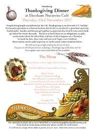 thanksgiving dinner thursday 23rd november 2017 darsham nurseries