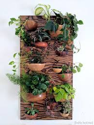 living wall vertical planter from wooden bowls reality daydream