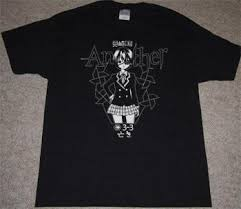 fan made t shirts custom another anime t shirt manga mei misaki horror fanmade shirt
