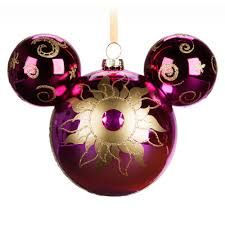 mickey mouse glass ornament set disney store