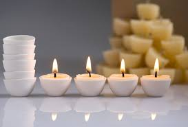 small tea light candles beeswax tealight refills and porcelain holders organic beeswax candles